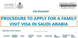 HOW TO APPLY FOR A FAMILY VISIT VISA IN SAUDI ARABIA
