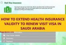 EXTEND HEALTH INSURANCE FOR VISIT VISA KSA