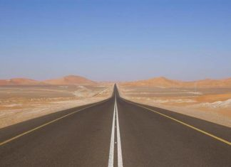 Worlds Longest Road in Saudi Arabia