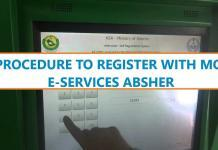 HOW TO REGISTER WITH MOI ABSHER - JAWAZAT ABSHER KIOSK - ABSHER ACCOUNT OPENING