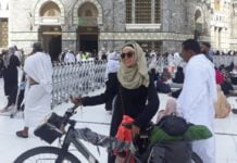 SARA HEBA REACHED MAKKAH FROM TUNISIA ON A BICYCLE