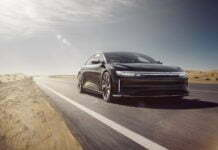 Lucid Air is the world's fastest charging electric vehicle