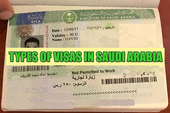 Types of Visas in Saudi Arabia