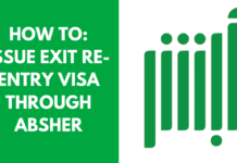 How to Issue Exit Re-Entry Visa through Absher?