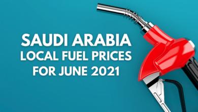 SAUDI ARABIA LOCAL FUEL PRICES FOR JUNE 2021